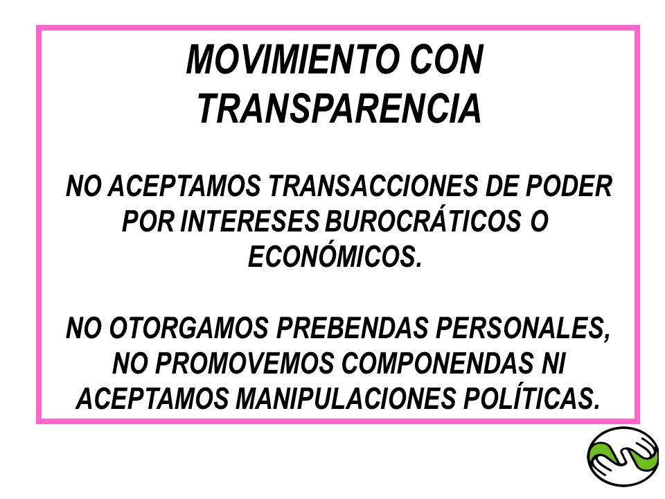 MOVIMIENTO CON TRANSPARENCIA