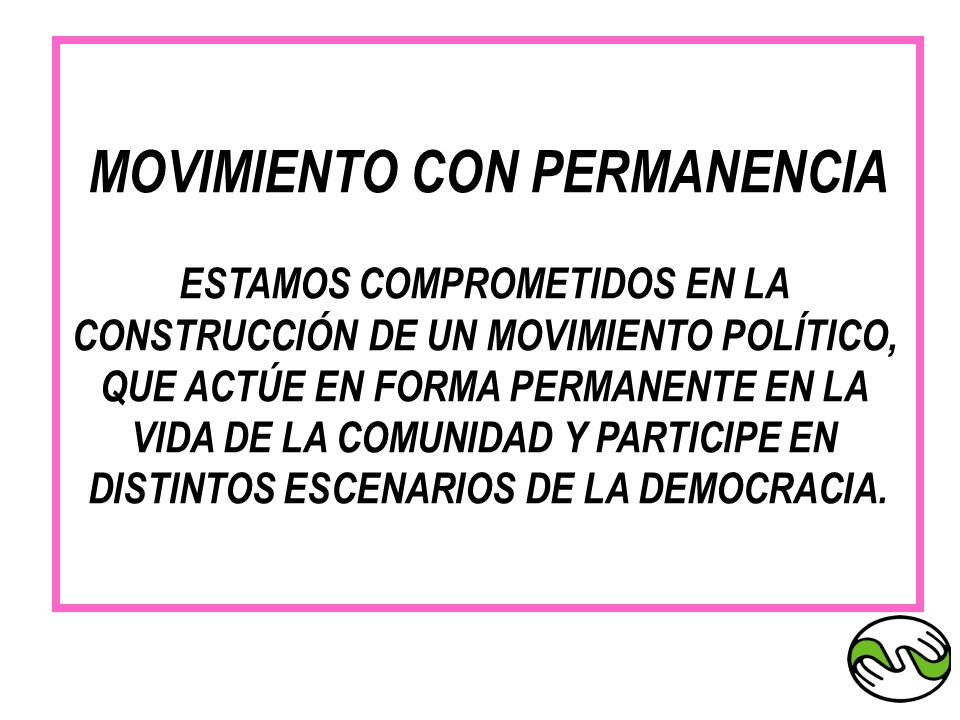 MOVIMIENTO CON PERMANENCIA