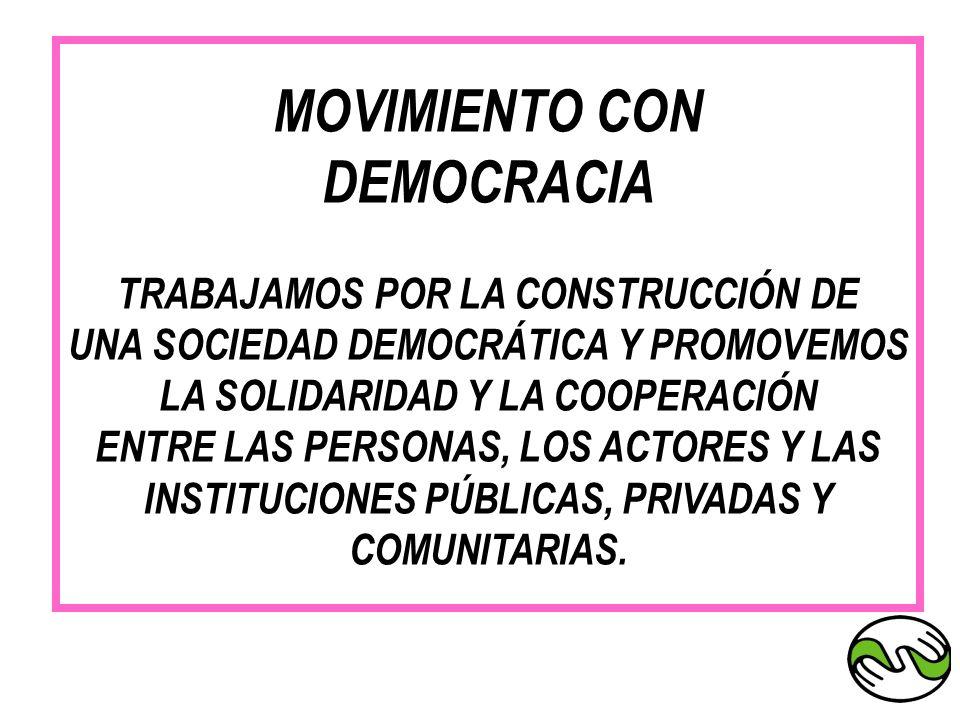 MOVIMIENTO CON DEMOCRACIA TRABAJAMOS POR LA CONSTRUCCIÓN DE