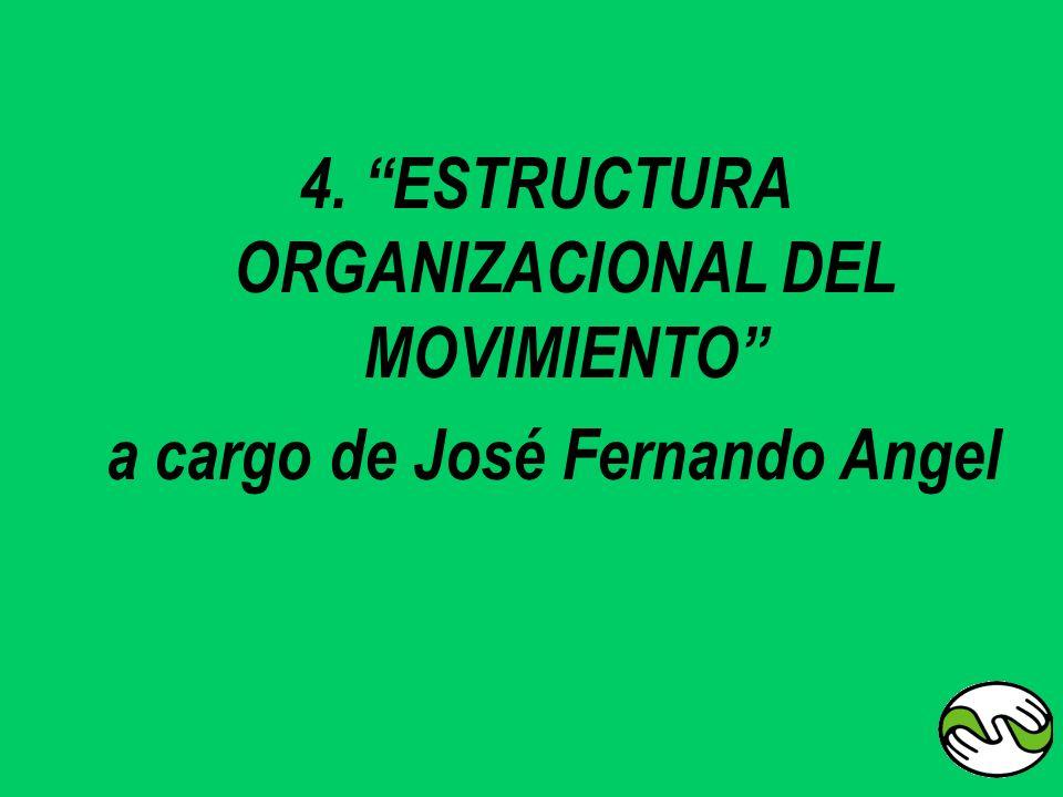 4. ESTRUCTURA ORGANIZACIONAL DEL MOVIMIENTO