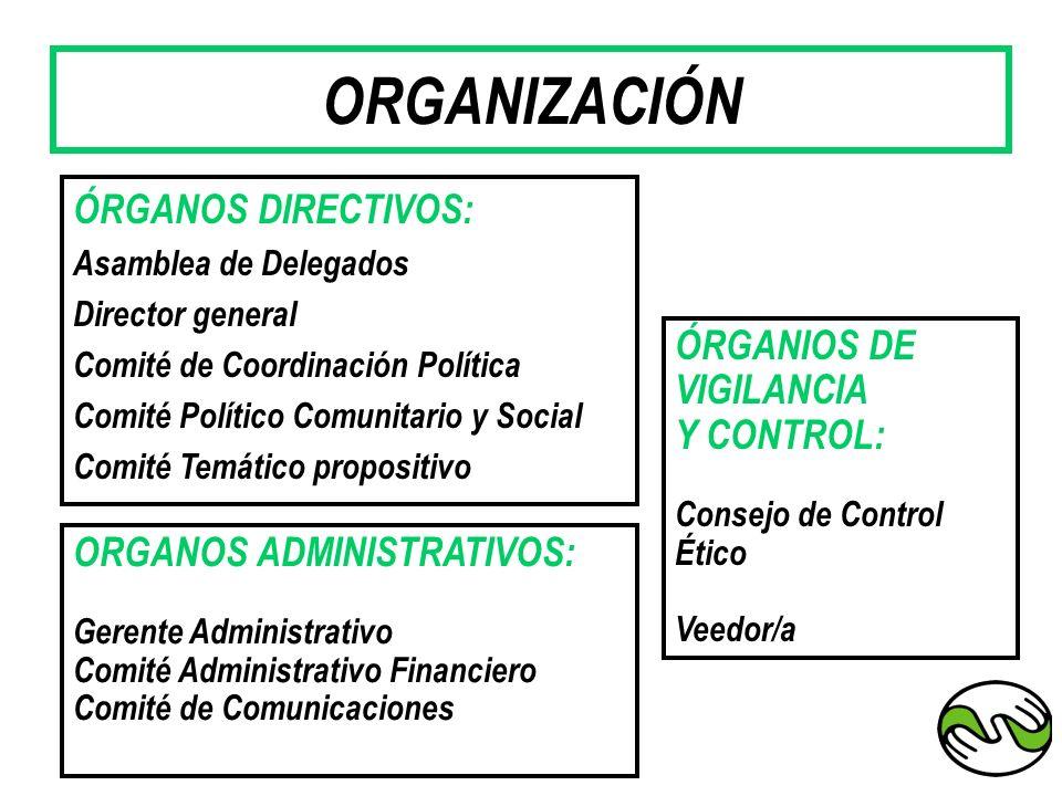 ORGANIZACIÓN ÓRGANOS DIRECTIVOS: ÓRGANIOS DE VIGILANCIA Y CONTROL: