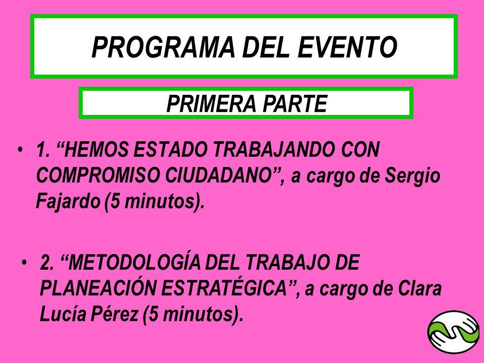 PROGRAMA DEL EVENTO PRIMERA PARTE