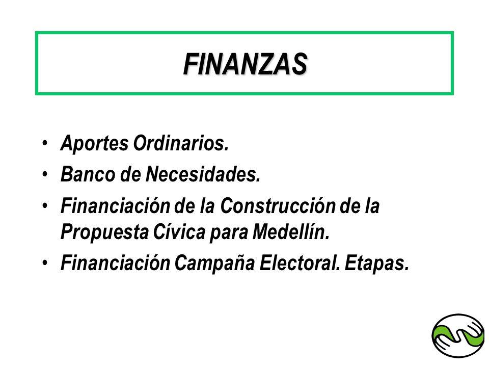 FINANZAS Aportes Ordinarios. Banco de Necesidades.