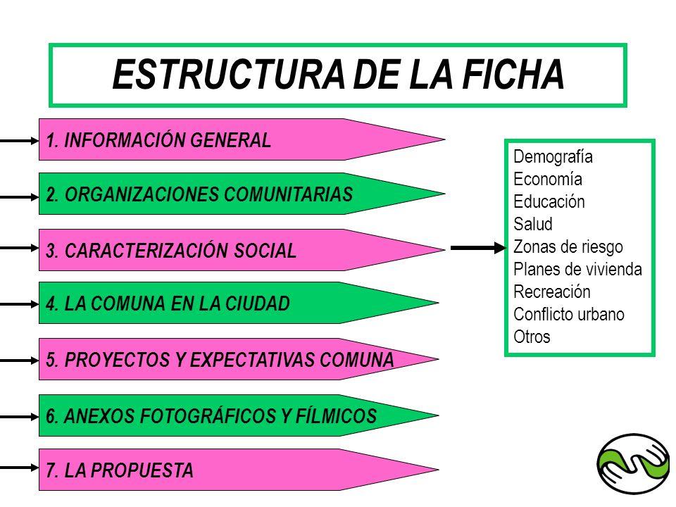 ESTRUCTURA DE LA FICHA 1. INFORMACIÓN GENERAL