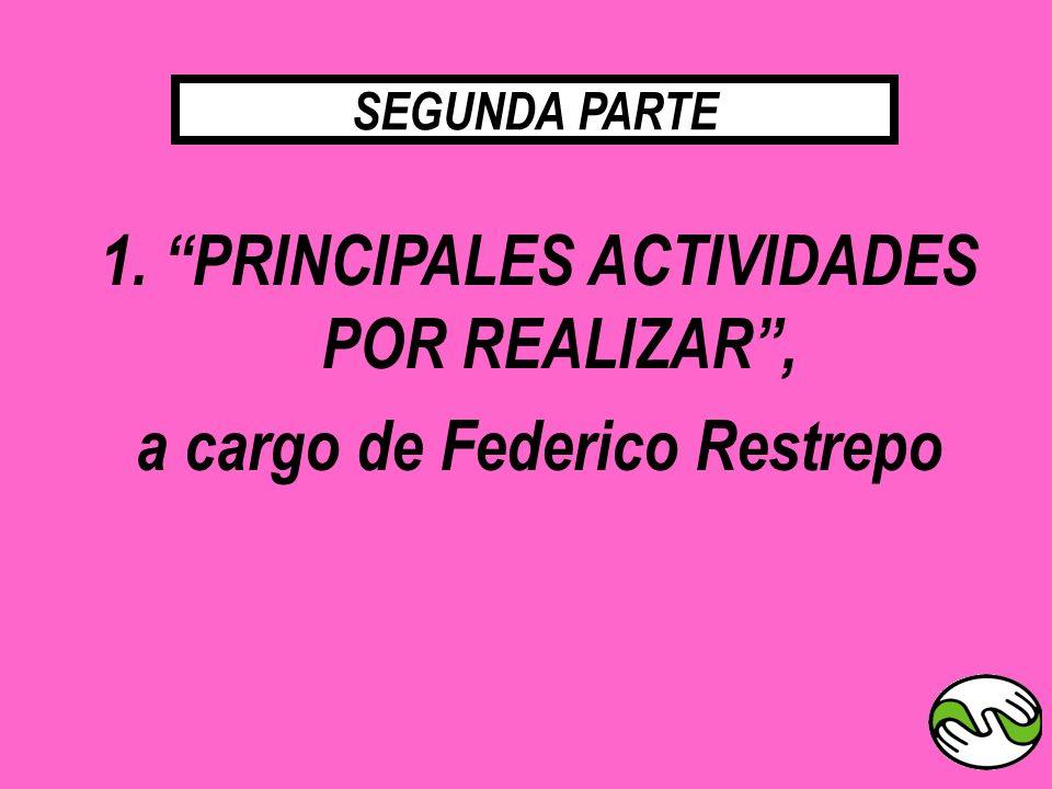 1. PRINCIPALES ACTIVIDADES POR REALIZAR ,