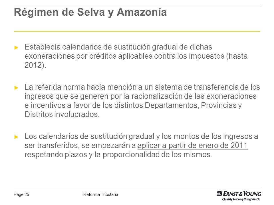 Régimen de Selva y Amazonía