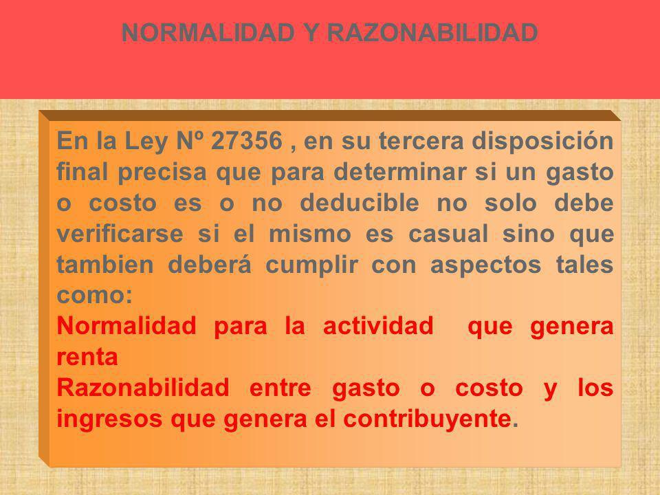 NORMALIDAD Y RAZONABILIDAD