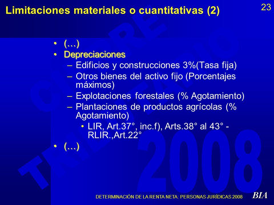 Limitaciones materiales o cuantitativas (2)