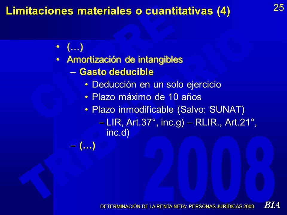 Limitaciones materiales o cuantitativas (4)