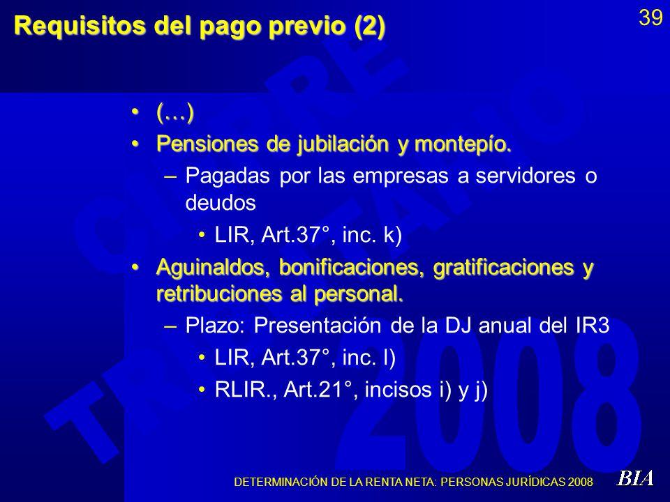 Requisitos del pago previo (2)