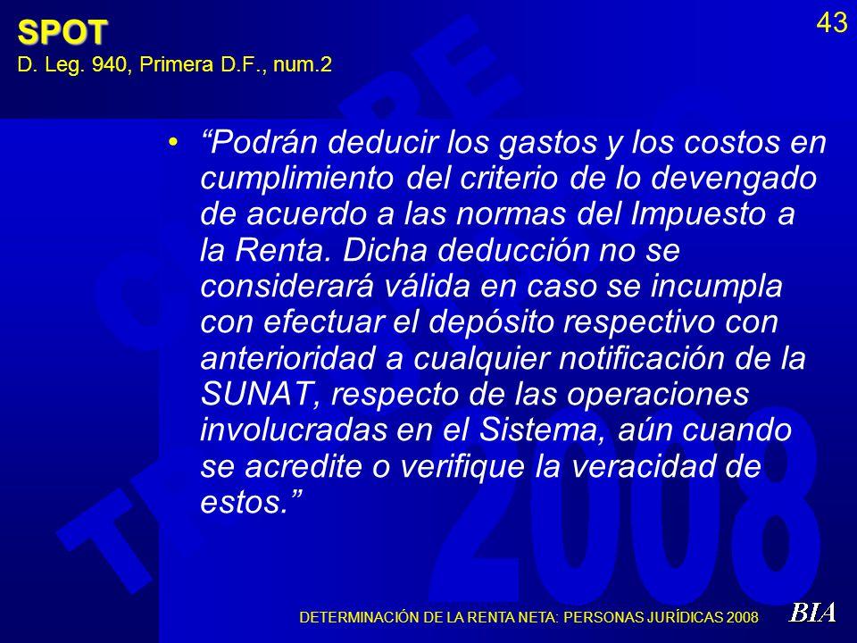 SPOT D. Leg. 940, Primera D.F., num.2
