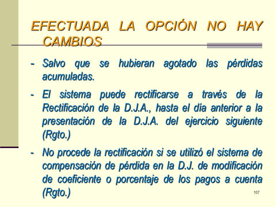 EFECTUADA LA OPCIÓN NO HAY CAMBIOS