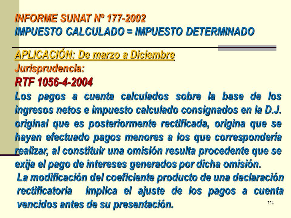 RTF 1056-4-2004 INFORME SUNAT Nº 177-2002