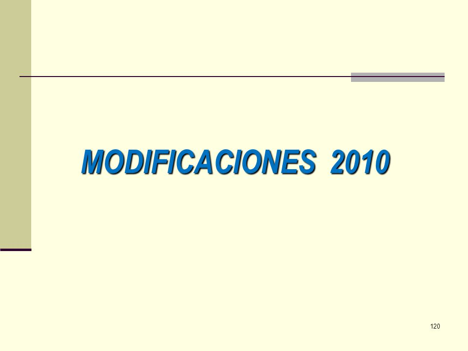 MODIFICACIONES 2010