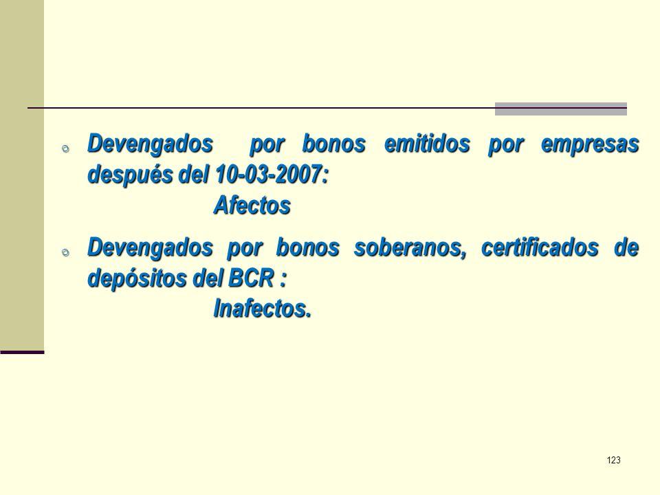 Devengados por bonos emitidos por empresas después del 10-03-2007: