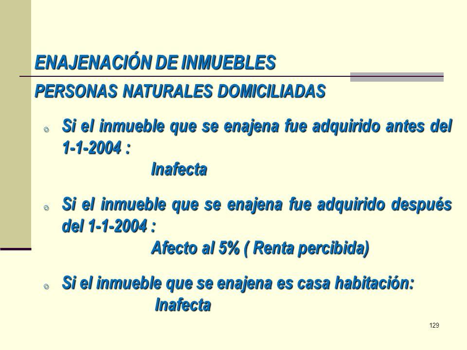 ENAJENACIÓN DE INMUEBLES