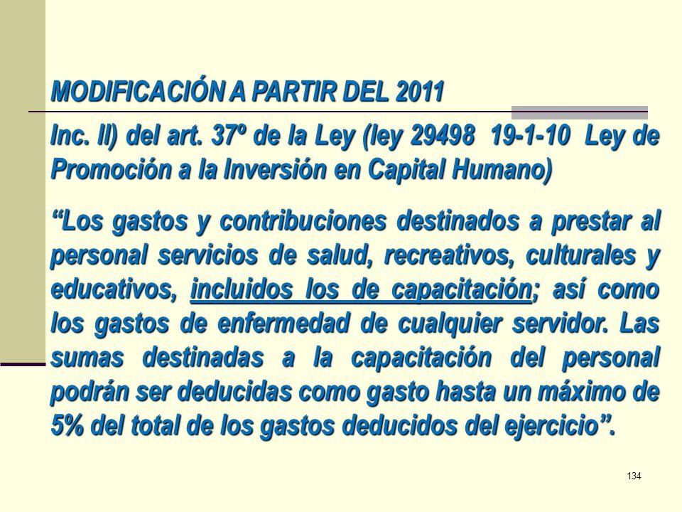 MODIFICACIÓN A PARTIR DEL 2011