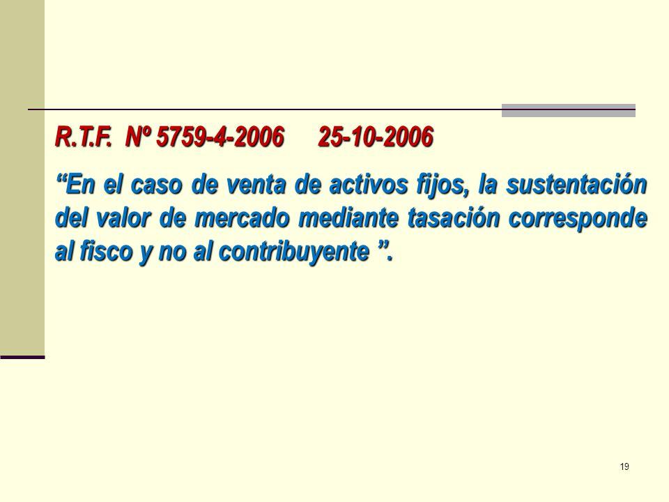 R.T.F. Nº 5759-4-2006 25-10-2006