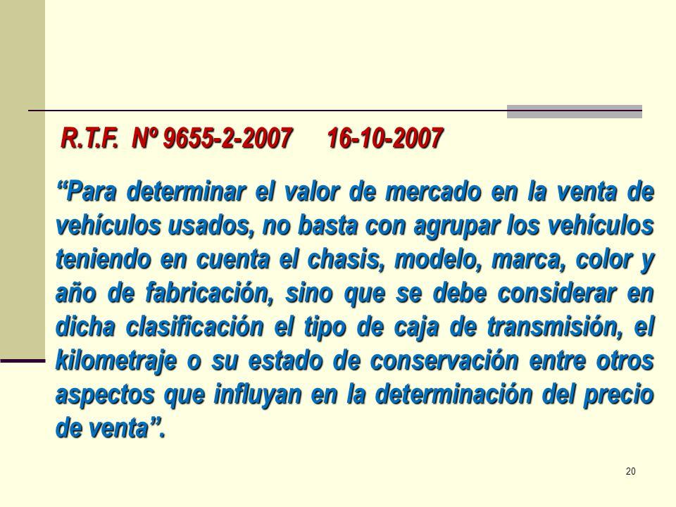 R.T.F. Nº 9655-2-2007 16-10-2007
