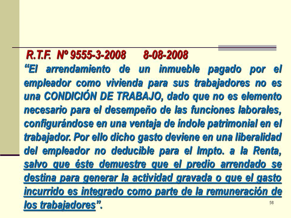 R.T.F. Nº 9555-3-2008 8-08-2008