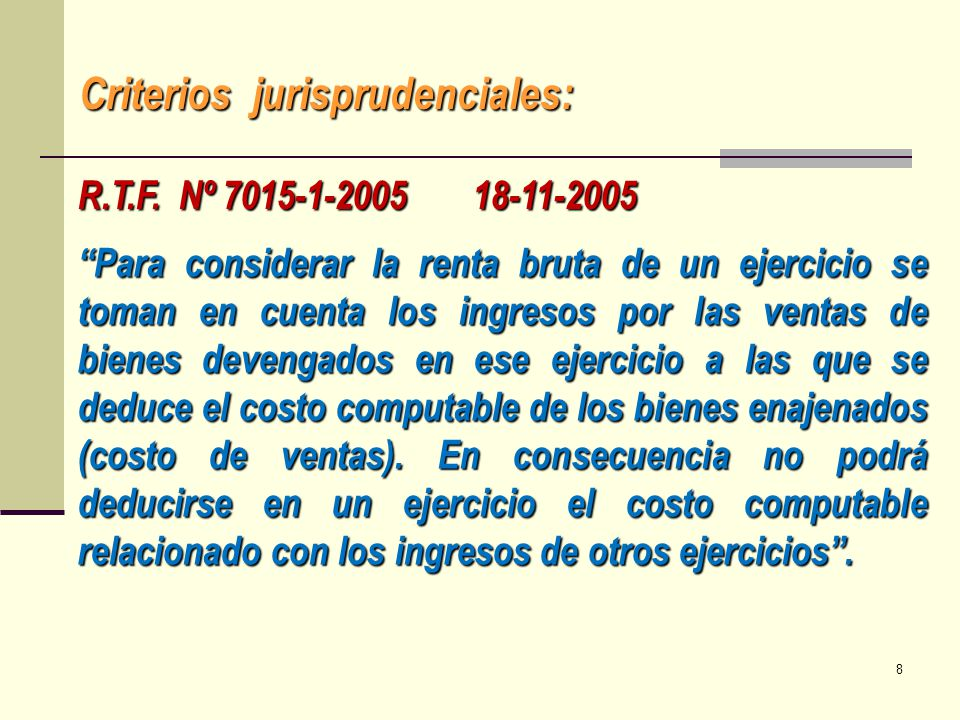 Criterios jurisprudenciales: