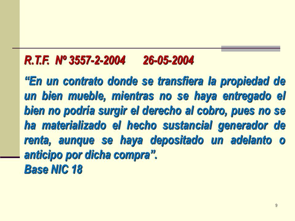 R.T.F. Nº 3557-2-2004 26-05-2004