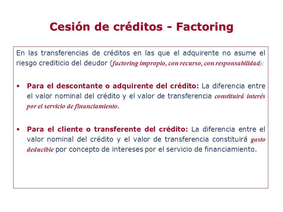 Cesión de créditos - Factoring