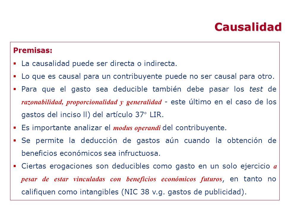 Causalidad Premisas: La causalidad puede ser directa o indirecta.