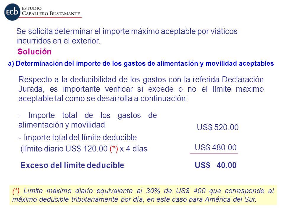 - Importe total de los gastos de alimentación y movilidad