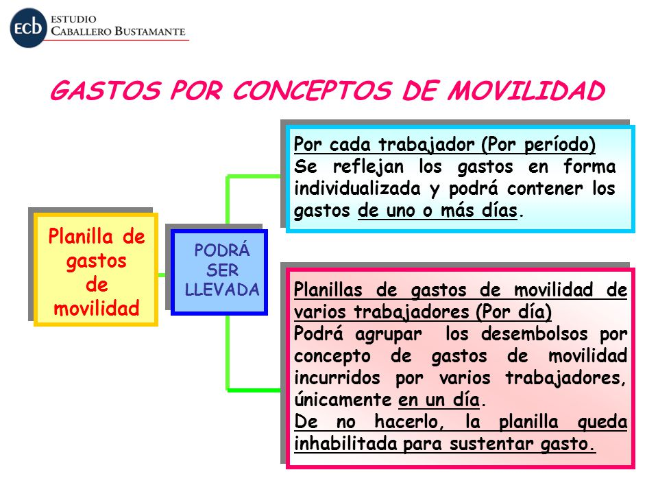 GASTOS POR CONCEPTOS DE MOVILIDAD