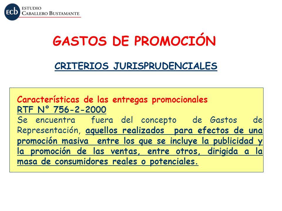 GASTOS DE PROMOCIÓN CRITERIOS JURISPRUDENCIALES
