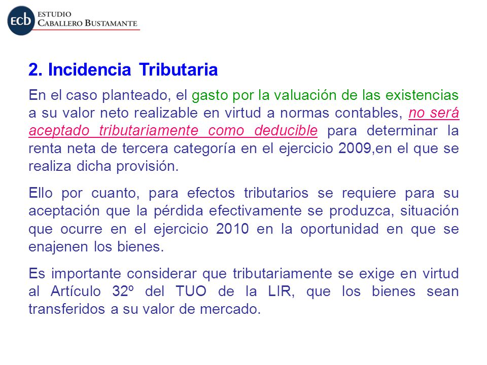 2. Incidencia Tributaria