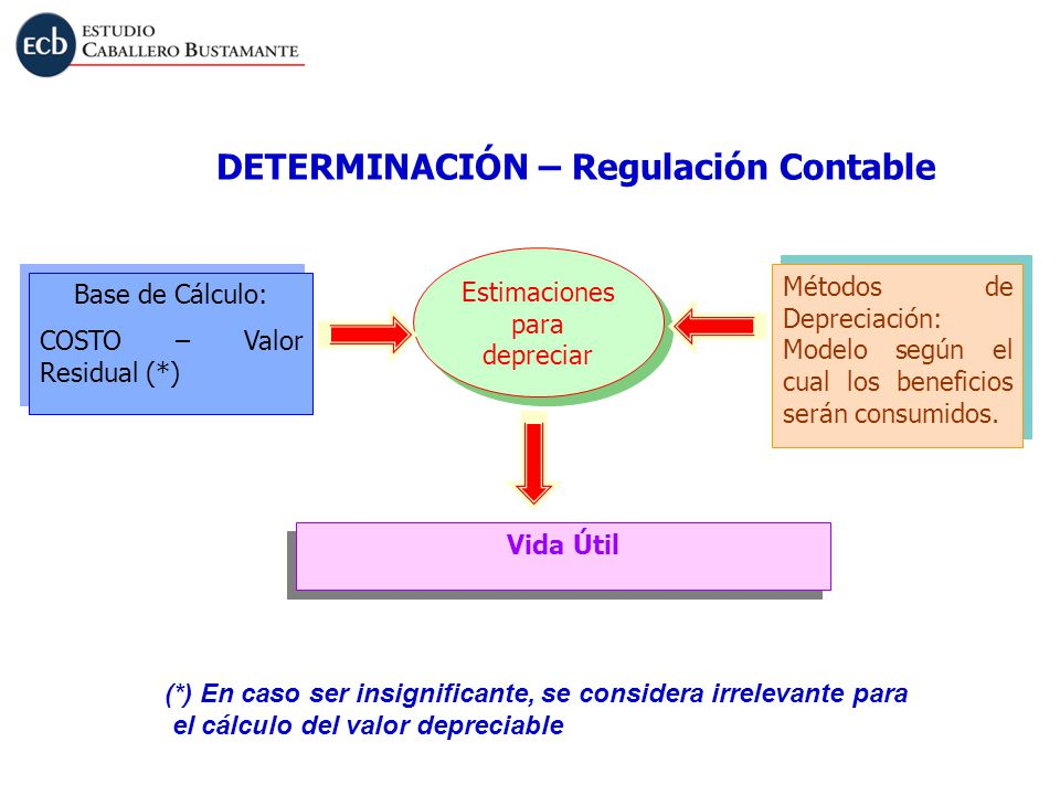 DETERMINACIÓN – Regulación Contable