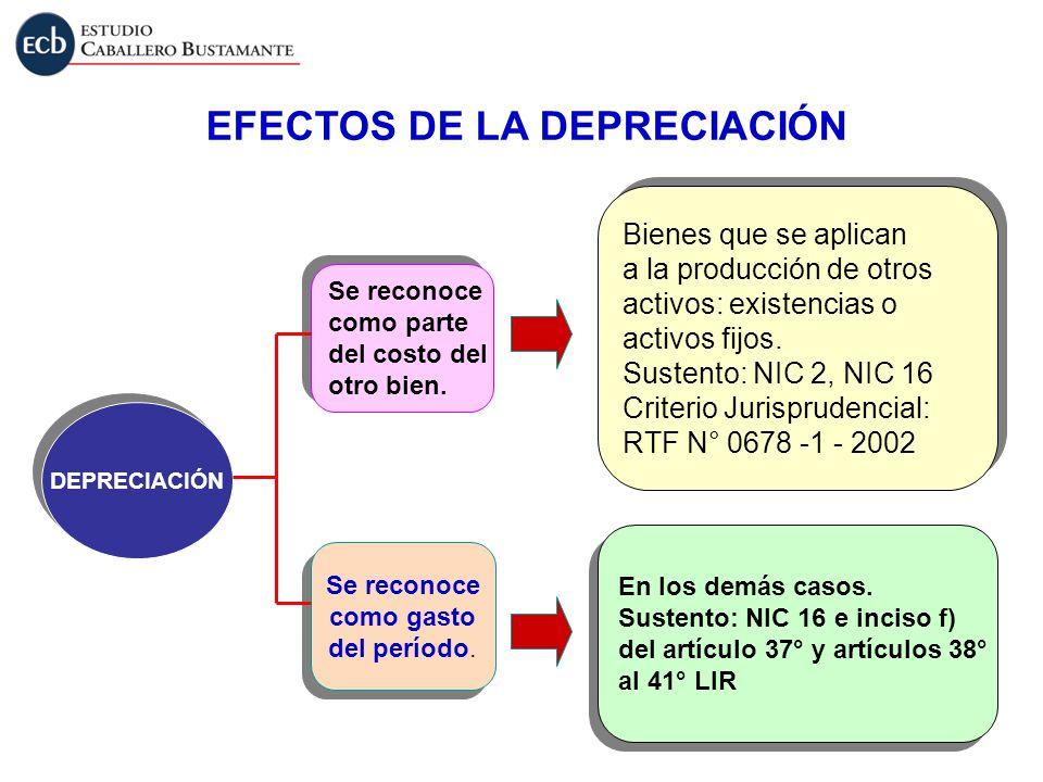 EFECTOS DE LA DEPRECIACIÓN