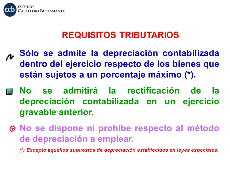 REQUISITOS TRIBUTARIOS