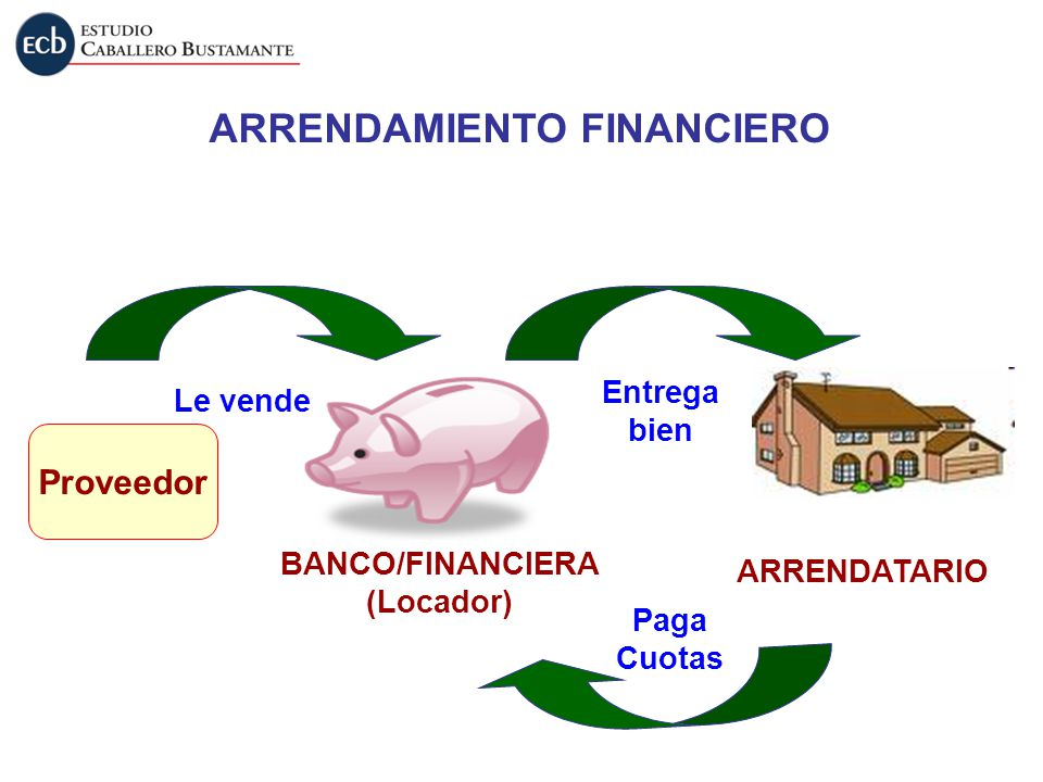 ARRENDAMIENTO FINANCIERO BANCO/FINANCIERA (Locador)
