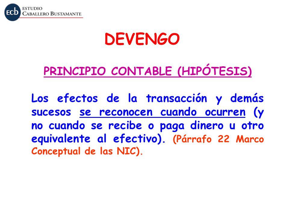 PRINCIPIO CONTABLE (HIPÓTESIS)
