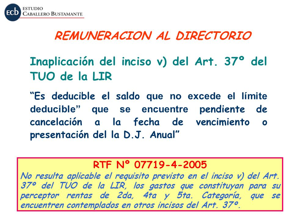 REMUNERACION AL DIRECTORIO