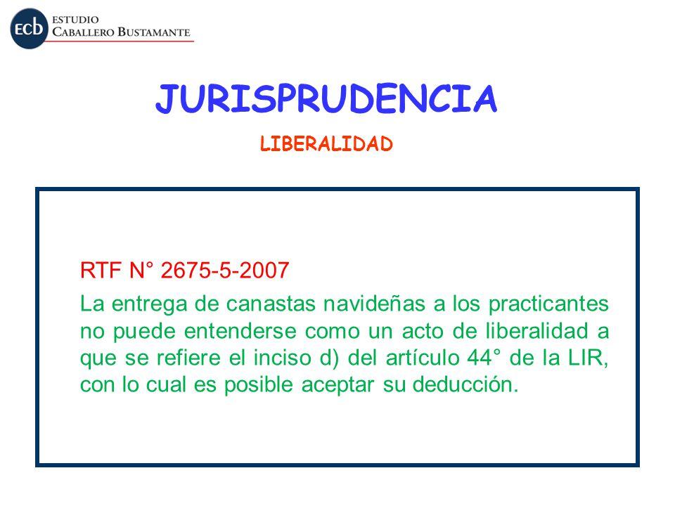 JURISPRUDENCIA RTF N° 2675-5-2007