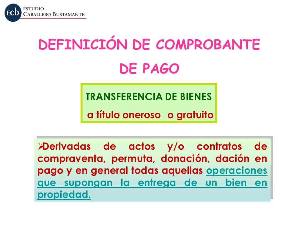 DEFINICIÓN DE COMPROBANTE DE PAGO