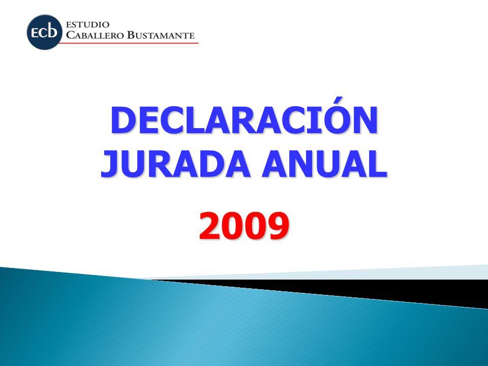 DECLARACIÓN JURADA ANUAL