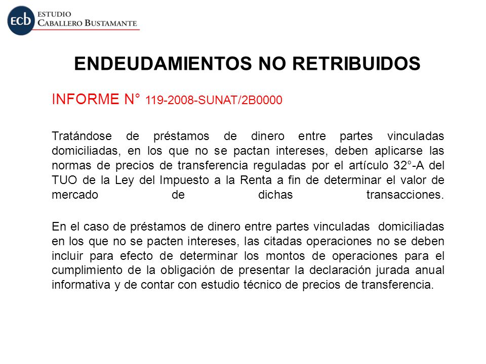 ENDEUDAMIENTOS NO RETRIBUIDOS
