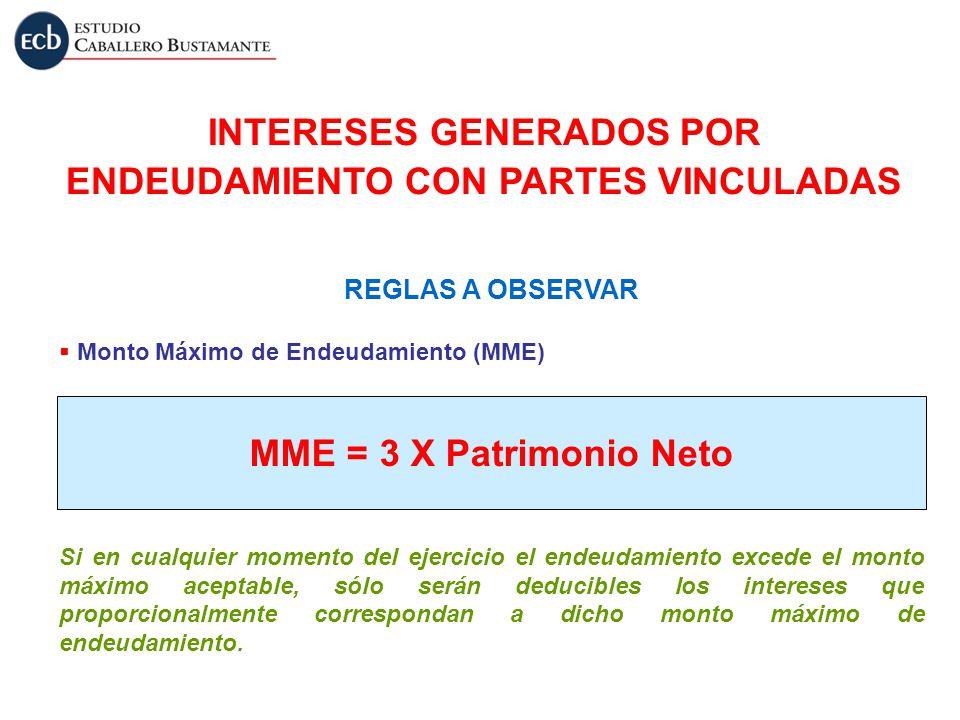 INTERESES GENERADOS POR ENDEUDAMIENTO CON PARTES VINCULADAS