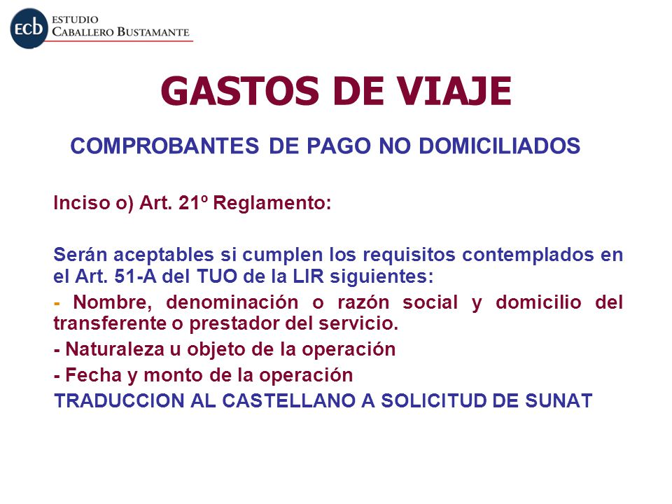 COMPROBANTES DE PAGO NO DOMICILIADOS