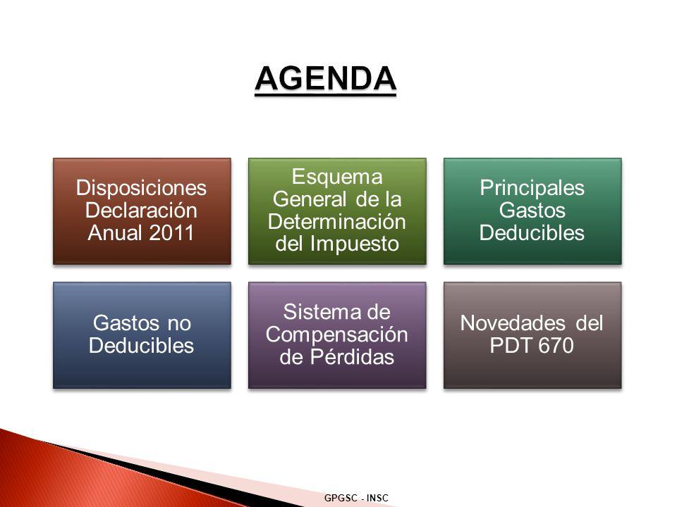 AGENDA Disposiciones Declaración Anual 2011