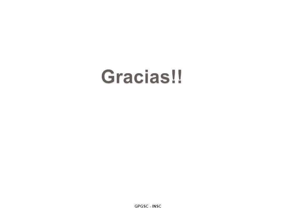 Gracias!! GPGSC - INSC