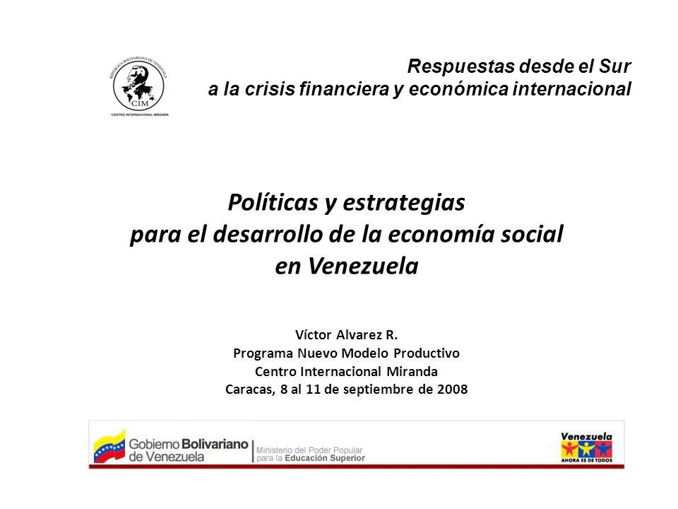 Políticas y estrategias para el desarrollo de la economía social