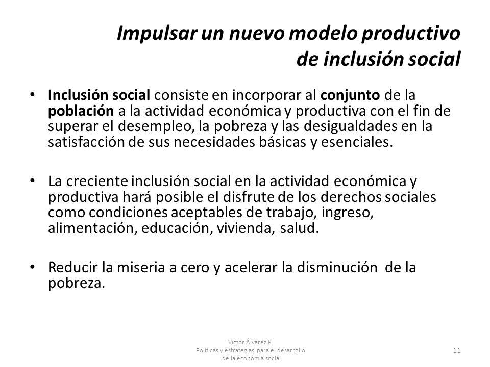 Impulsar un nuevo modelo productivo de inclusión social