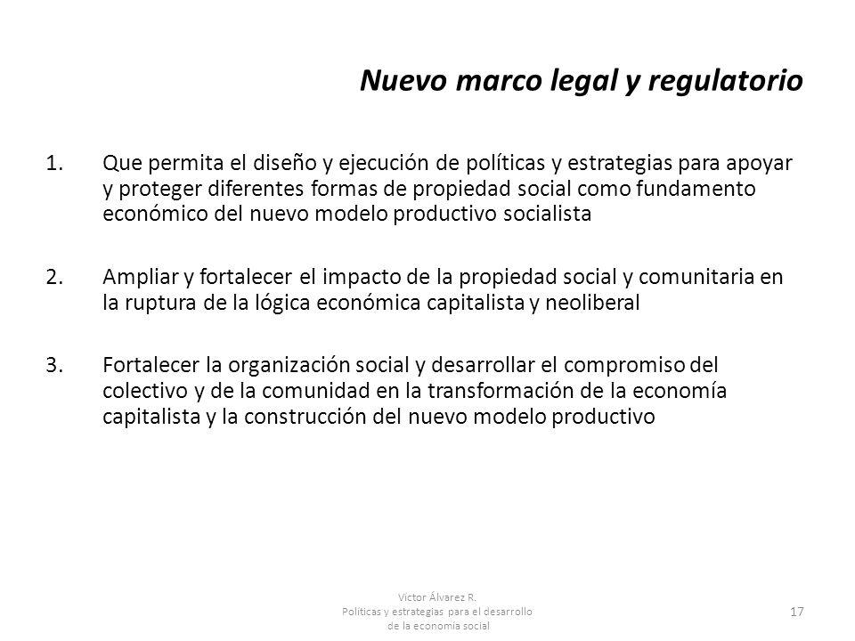 Nuevo marco legal y regulatorio