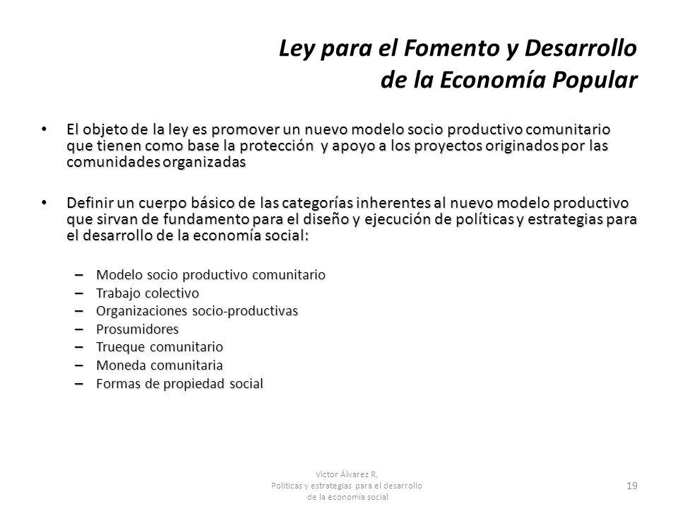Ley para el Fomento y Desarrollo de la Economía Popular